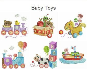 Baby Toys Machine Embroidery Designs Instant Download 4x4 hoop 15 designs SHE5008