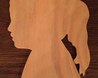 Custom Wooden Silhouette ~ Child / Parent / Pet ~ Wall Hanging ~ Wooden Cameo ~ Handmade Wood Keepsake ~ FREE SHIPPING