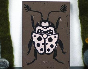 Carte postale lithographiée Beetle