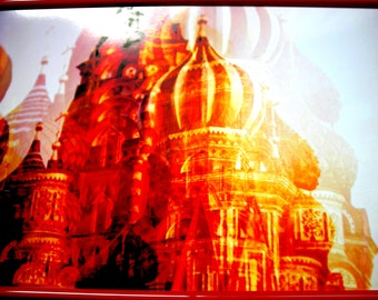 The Church Saint Basil 21 x 29.7 cm framed digital photo print.