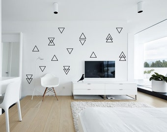 Charming Triangle Wall Decals, 100 Self Adhesive Nursery Wall Decals, Little Peaks  Wall Stickers,
