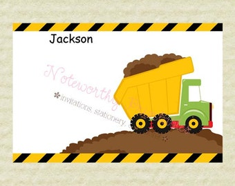 Printable Dump Truck Thank You Note