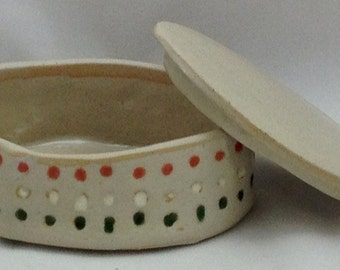 Handmade Speckled Spotted Jewelry Box 12026