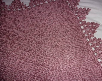 Hand knit baby blanket in diamond pattern with crocheted hand knit baby blanket in diamond pattern with crocheted border many colors made to dt1010fo
