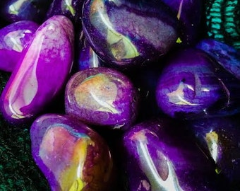 Tumbled Violet Agate