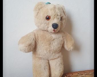 Shanghai dolls factory teddy bear, vintage mohair teddy bear, pure wool teddy bear for sale