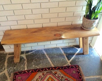 Entryway Bench/ Rough Cut Pine Bench