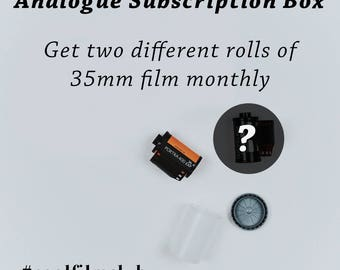 35mm film subscription box - receive two rolls of film monthly