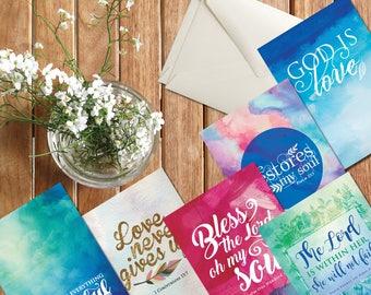 Greeting cards / Inspirational Cards / Bible Verse / Christian Gifts / Cards / Scripture cards / Scripture Prints / Digital Print