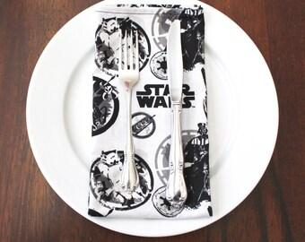 4 Star Wars Napkins Darth Vader Storm Trooper Bobafett Napkins Set of 4