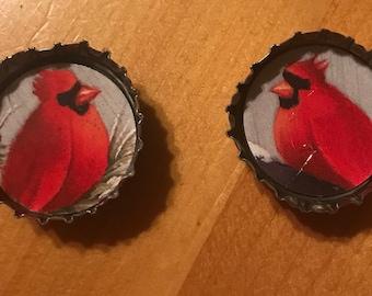 Bottle cap magnets, set of 2