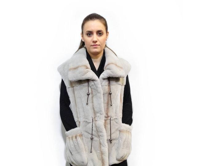 Real Mink Fur Sheared Vest,Sleeveless Mink Jacket F425