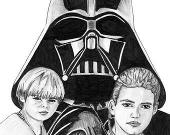 Anakin Skywalker Darth Vader Quad-portrait