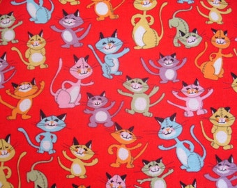 CAT FABRIC Alexander Henry Fabric A Thousand Meows 2008 - 1.25 Yard - #C14