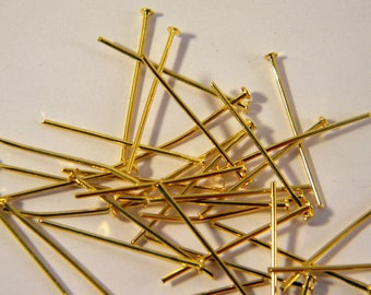 150 nails a flat head pin gold plated 24 mm AB