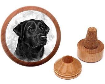 Black Labrador bottle stopper | Black Labrador gift for dog owner | Black Lab present | Dog lover gift |