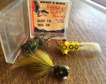 Vintage Fishing Lures Flies Painted