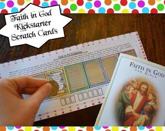Faith in God Kickstarter Scratch Cards PDF Download