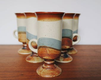 Otagiri Original Japan Stoneware Footed Irish Coffee Mugs Set of 5