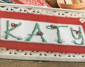 LADYBUG ALPHABET - Cross Stitch Pattern Only