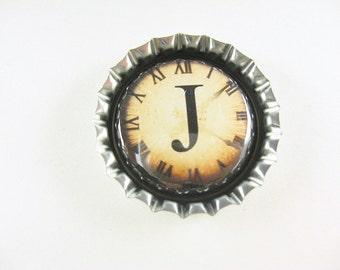 Bottle Cap Fridge Magnet Home & Living, Kitchen, Storage Choose Your Steampunk Letter