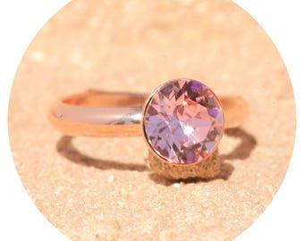 artjany ring light rose pink gold