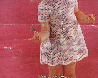 girls dress, crochet pattern, instant download, PDF