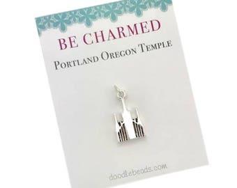 Portland Temple, LDS Temples, Portland Oregon Temple charms, LDS Wedding, Mormon temple charm bracelet, temple Necklace or temple keyring