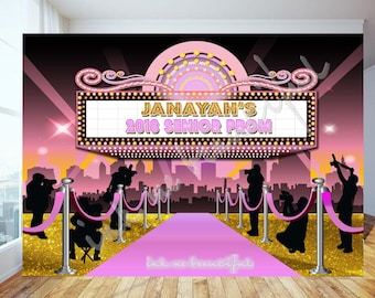 PRINTABLE Red Carpet, Pink Carpet, Prom Photo Backdrop, Candy Table Backdrop, Step and Repeat