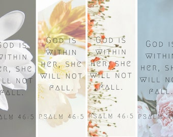 God is within her   Psalm 46:5   Scripture Printable   Wall Art   Christian Decor