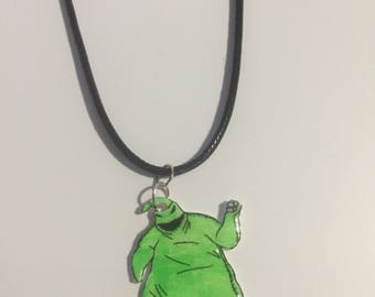 Oogie boogie nightmare before christmas charm necklace
