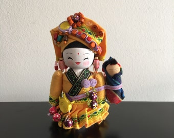 Vintage ,Chinese,Minority Doll,Chinese Doll,Ethnic Doll,Minority Doll,Asian Doll,Asian Interiors,Oriental Decor,Home Decor