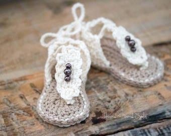 Crochet Pattern, Crochet Booties Pattern, Baby Booties Pattern, Crochet Baby Booties Pattern for Baby Girl, Crochet Sandals Pattern