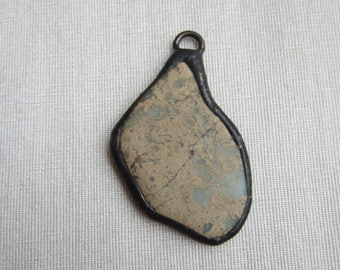 Hand Soldered Sea and Sand Pendant