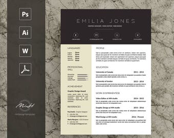 Professional Resume Template / CV template / FREE Cover letter