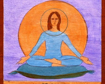 Y is for YOGA. Hand-signed print of original artwork