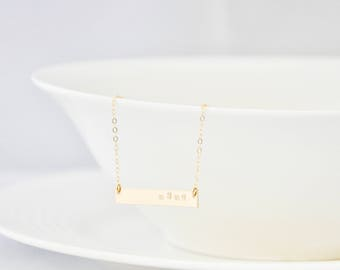 14K Gold Filled Mama Bar Necklace - Gold Bar/ Mama Necklace/ Gold Necklace/ Gift for Mom/ Wife Gift/ New Mom Gift/ Baby Shower Gift