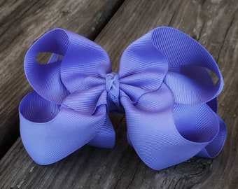 Lavender 6 Inch Double Stacked Bow