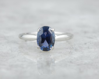 Stunning Color, Glitter in this Solitaire Sapphire Ring HV3CPD-D