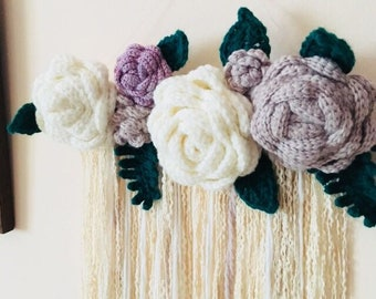 Wall Hanging, Flower crochet, home decor, home decoration, crochet, Flower decoration, Spring Home decor, Crochet wall hanging