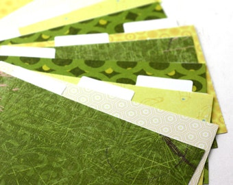 Set of 9 Recipe Box Card Dividers 4x6 Made To Order