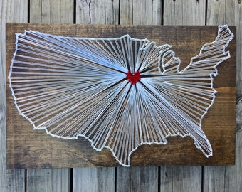 Map String Art, Wood Map of US, Large Wood Map, Wood US Map, Rustic Wood Map, Wood Wall Map, Wood Map Wall Art, Moving Away Gift, String Art