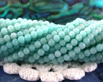 2mm Brazilian Amazonite Beads, Very Small to Tiny Undyed Semi Precious Stone Miniature Gemstone Beads, 2mm Round Stone Spacer Beads SEM-008