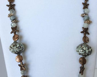 Sandy Starfish Necklace