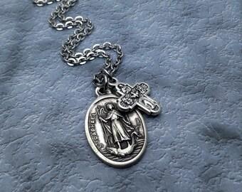 Saint Raphael Necklace / Archangel Raphael Necklace / St Raphael Necklace / Get Well Gift / Healing Necklace /