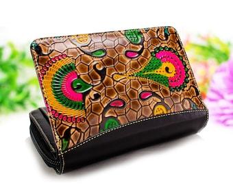 Small Women Wallet, cool women wallet, women wallet, women's leather wallet, womens wallet, zipper wallet C