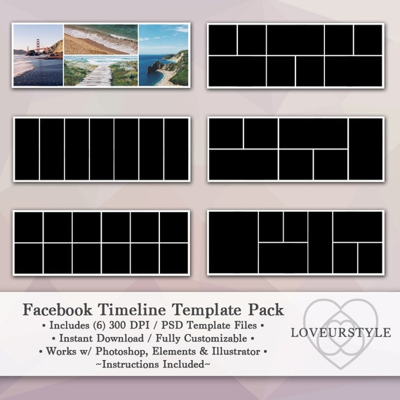 Facebook Timeline Template Pack Timeline Cover Facebook Banner