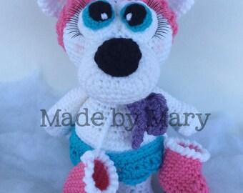 PDF PATTERN: Polar Bear Skating Amigurumi *Crochet Pattern Only, Not Actual Doll*