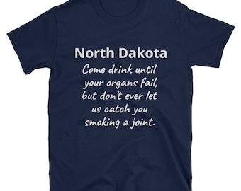 North Dakota weed T-Shirt, North Dakota gifts, North Dakota