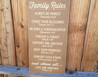 Bible Verses Family Rules